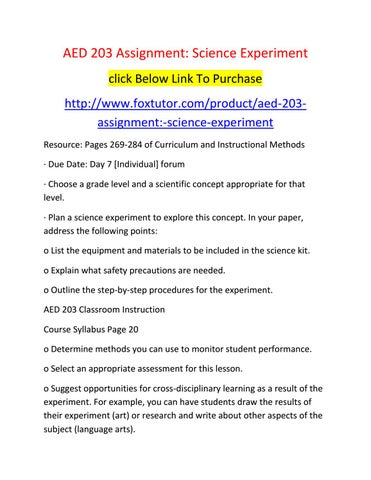 Aed 203 All Assignment By Aed203ft Issuu