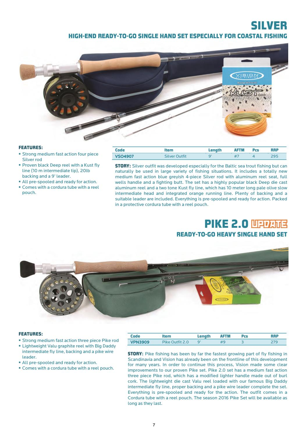 Vision Pike Set 2.0 Fly rod Reel Travel Tube with pike leader