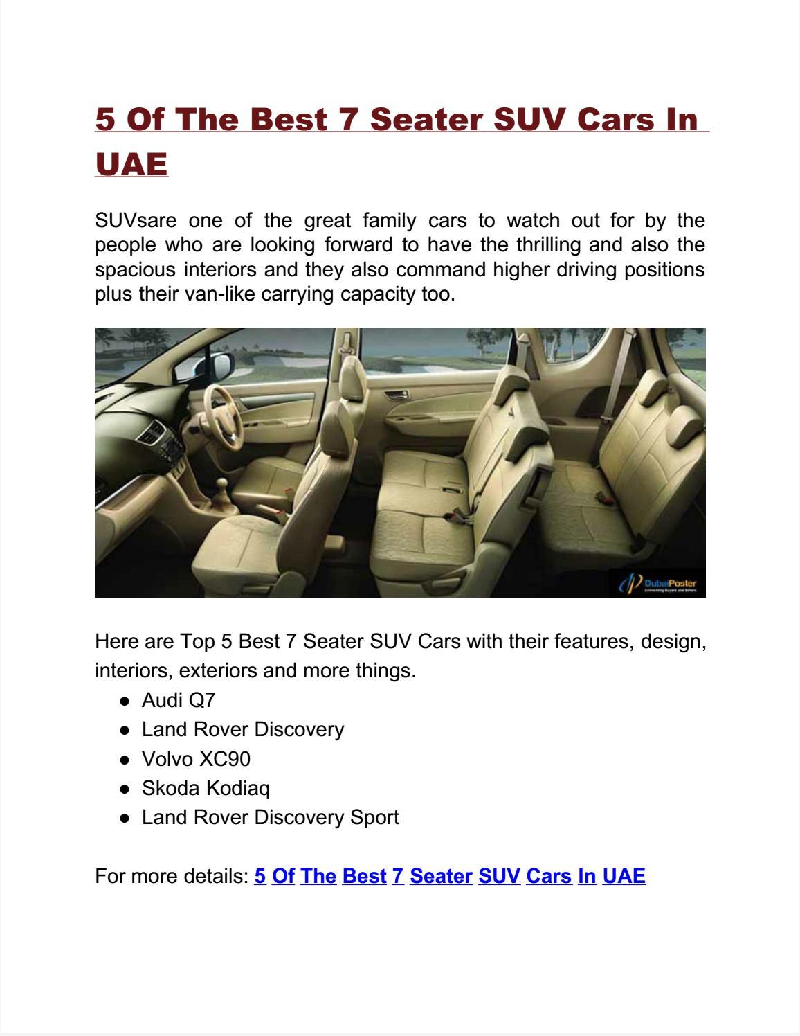 5 Of The Best 7 Seater Suv Cars In Uae By Ritika Jain Issuu