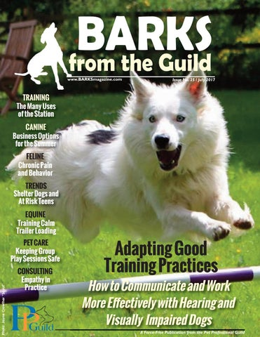 Barks from the guild july 2017 by the pet professional guild issuu page 1 malvernweather Gallery