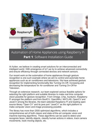 part 1] automation of home appliances using raspberry pi – software