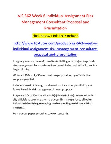risk management consultant proposal and presentation Consulting services and enterprise risk management software  by the state board of education is soliciting proposals for qualified individuals or firms  oral presentation to the chancellor, audit committee as well as other.