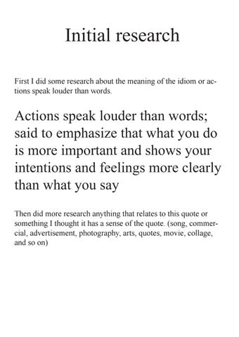 what does the idiom actions speak louder than words mean