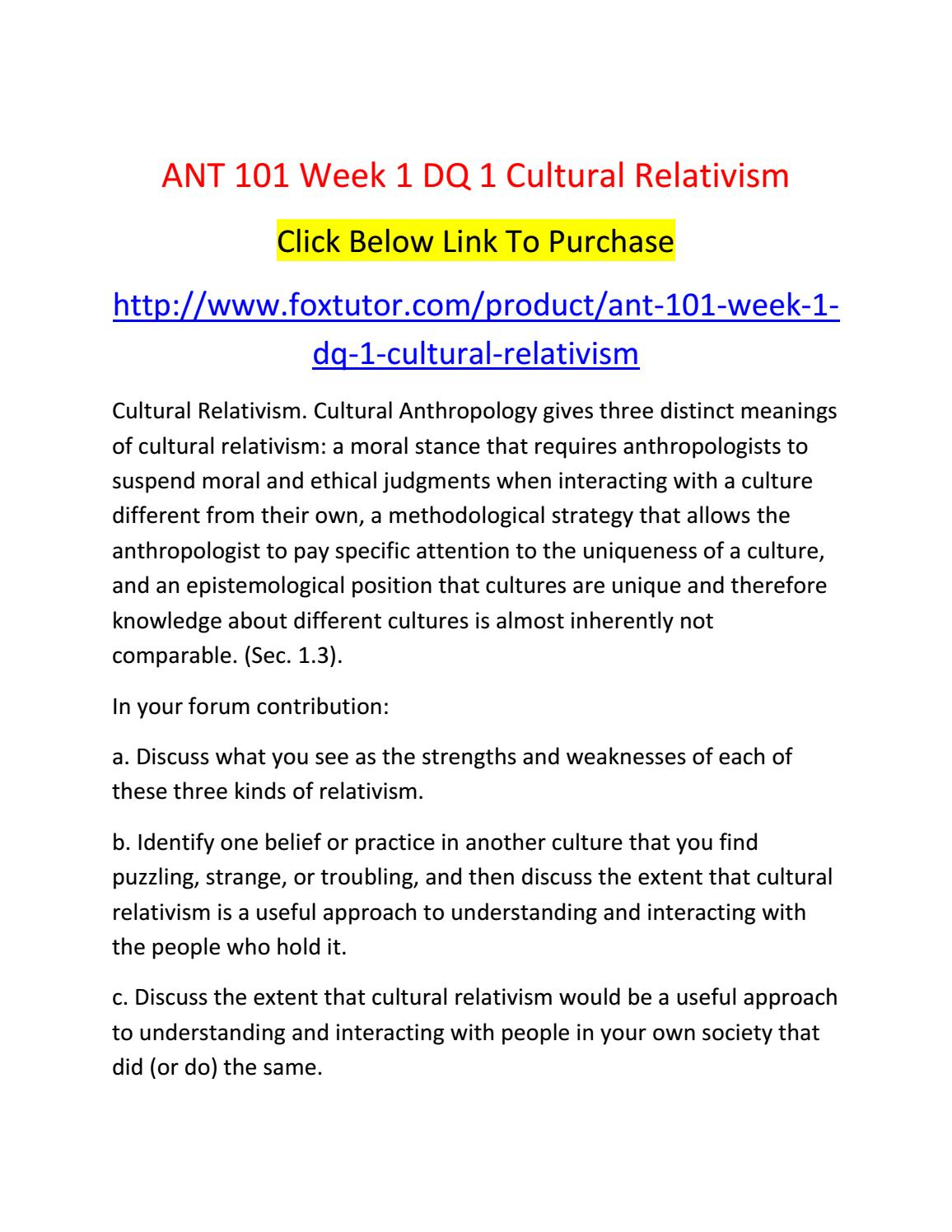 ant 101 introduction to cultural anthropology Ant 101 introduction to anthropology (3) ant 220 introduction to cultural anthropology (3) the study of the lifeways and beliefs of different peoples.