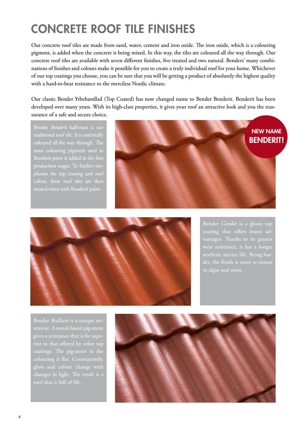 Gb Roof Mainbrochure Concrete And Interlocking By Benders Sverige Ab Issuu