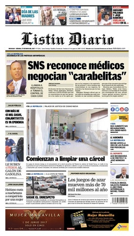 75e4e91152 LD 27-05-2017 by Listín Diario - issuu
