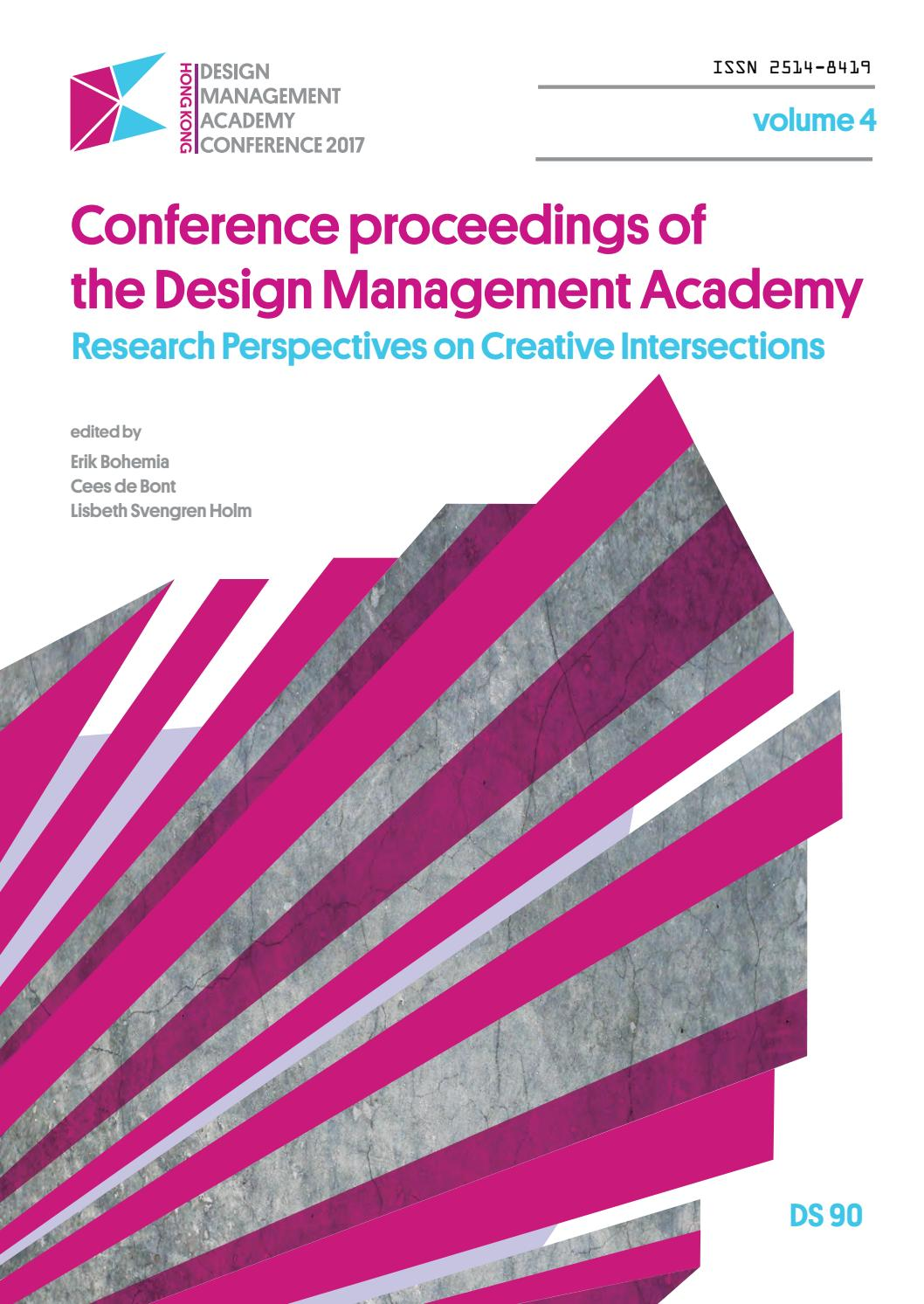 Conference Proceedings of the Design Management Academy 2017