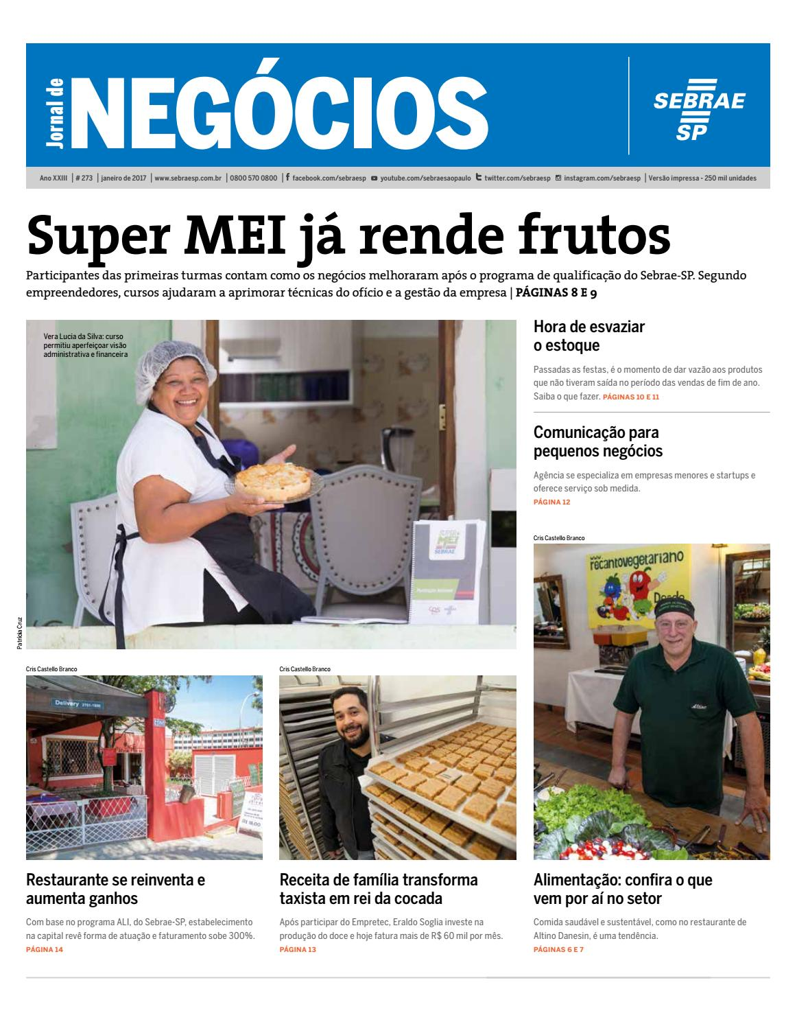 Jornal de Negócios Sebrae-SP - 01 de Janeiro de 2017 by Sebrae-SP - issuu 8d79609bf0987