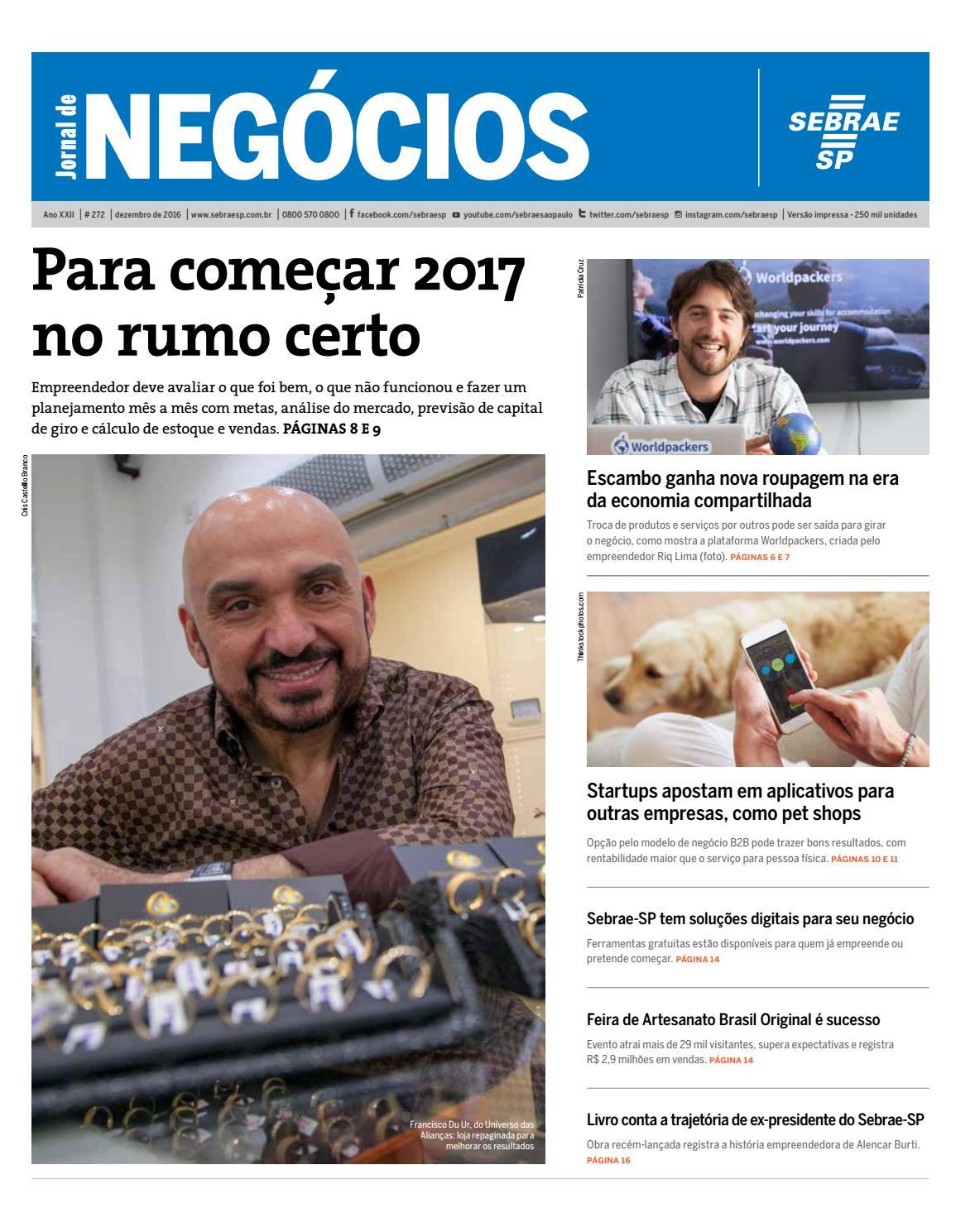 Jornal de Negócios Sebrae-SP - 01 de dezembro de 2016 by Sebrae-SP - issuu 4553e45d9c