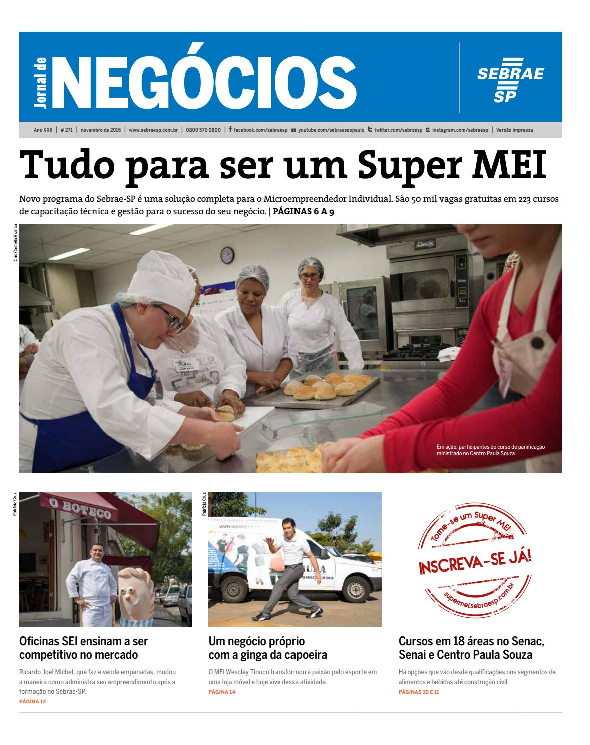 Jornal De Neg Cios Sebrae Sp 01 De Novembro De 2016 By Sebrae Sp