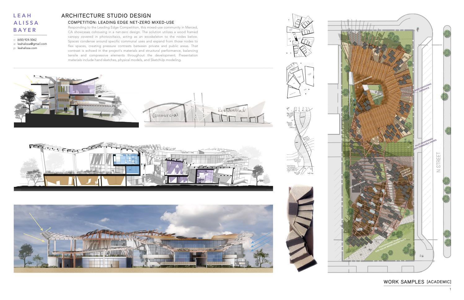 2017 architecture portfolio sample of work by leah for Architectural design sample