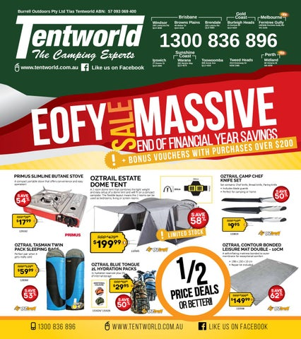 Burrell Outdoors Pty Ltd T/as Tentworld ABN 57 093 069 400  sc 1 st  Issuu & Tentworld - EOFY Sale - Massive End Of Financial Year Savings by ...