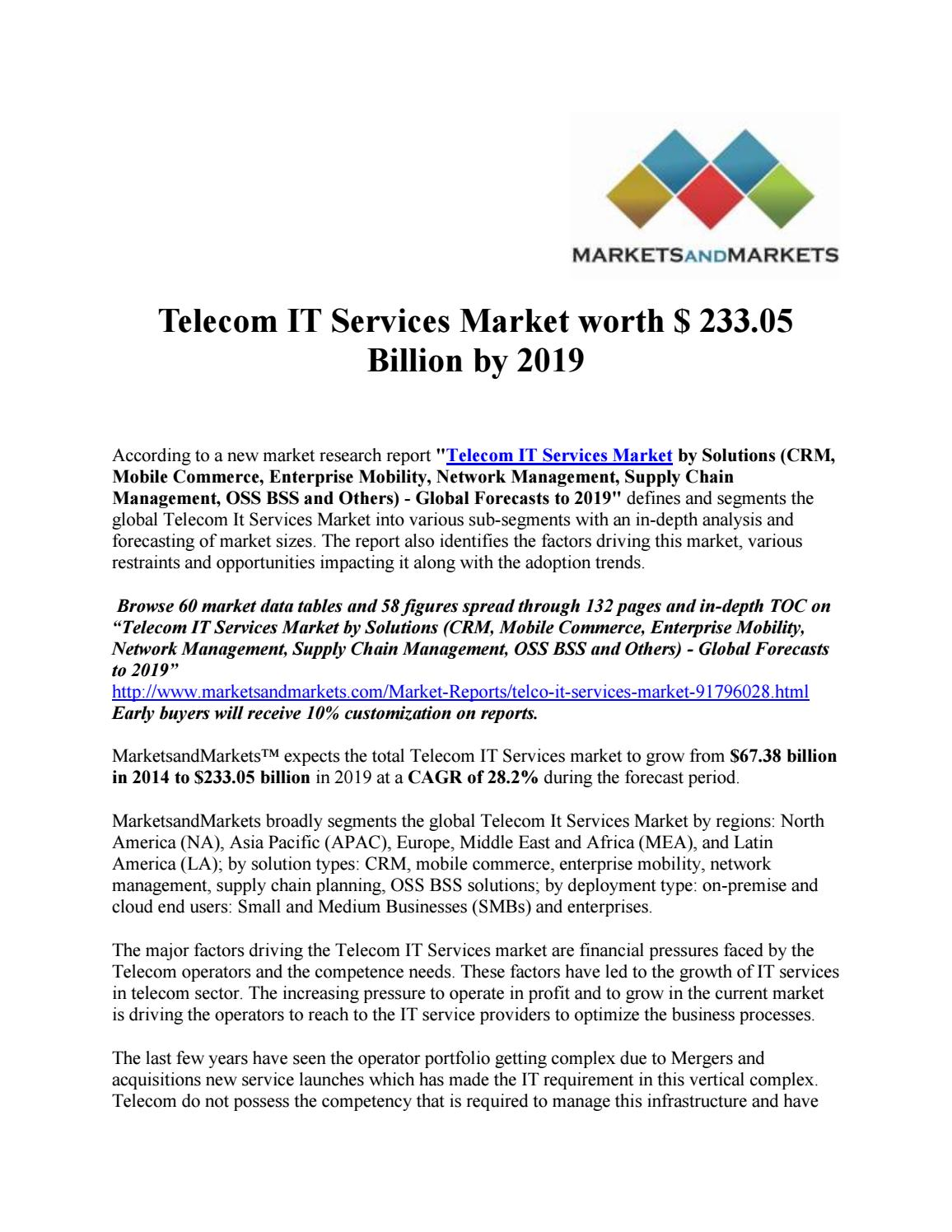revenue drivers in telecom industry