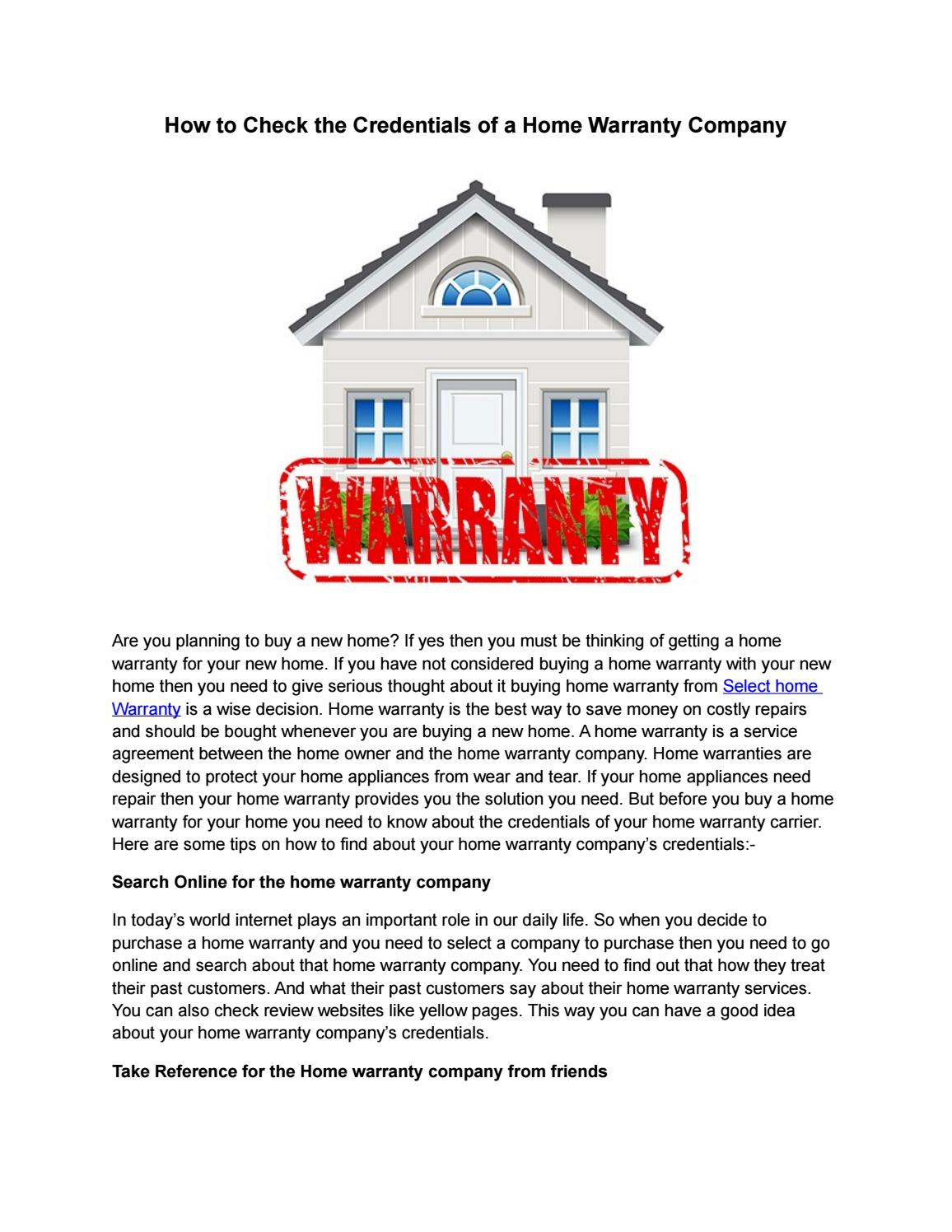 how to start a home warranty company