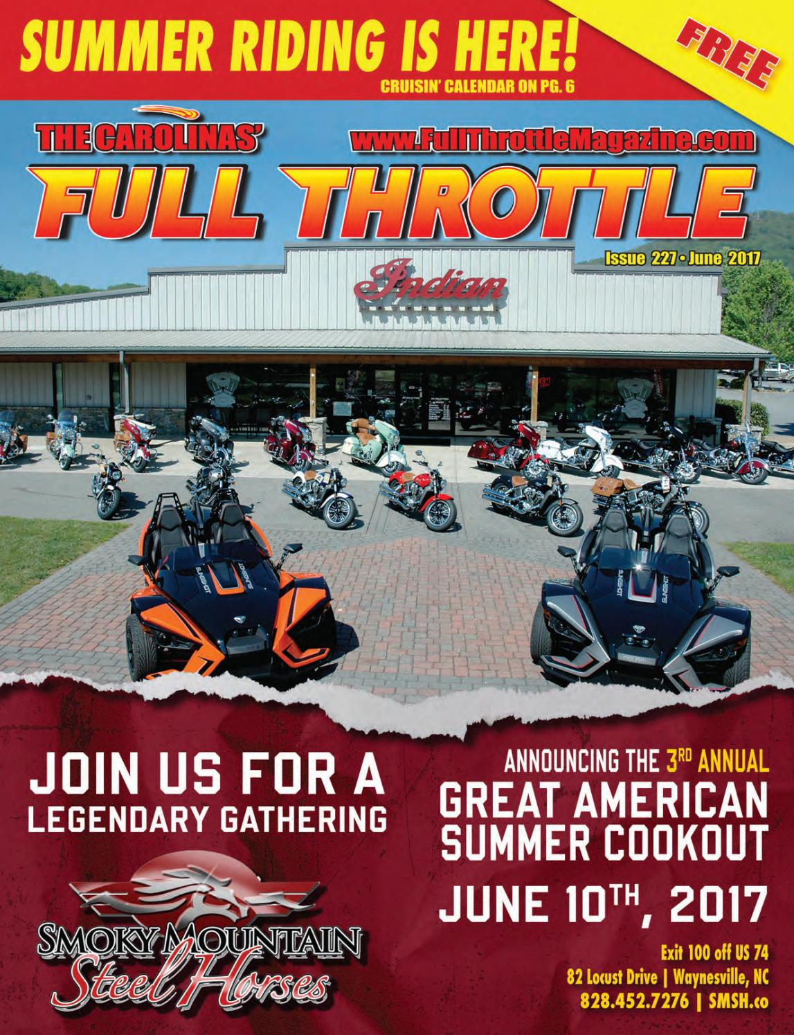 June 2017 issue 227 by the carolinas 39 full throttle - Cruisin carolina magazine ...