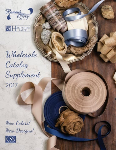 2017 Berwick Offray Hampshire Paper Wholesale Catalog By Css