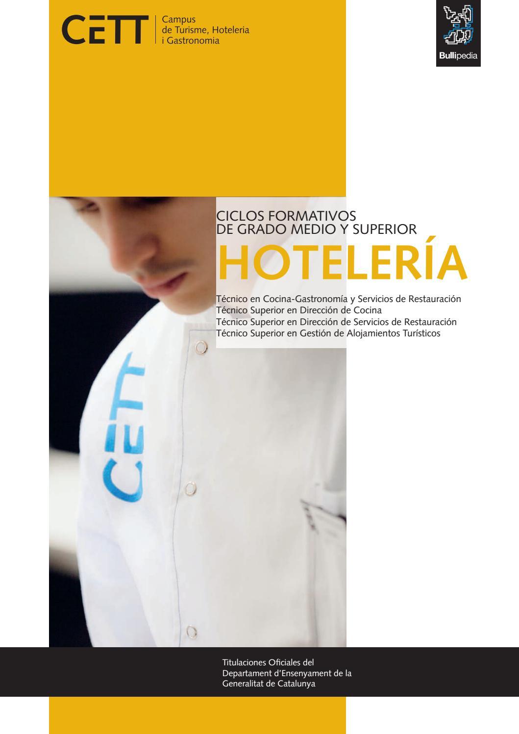 Ciclos Formativos De Grado Medio Y Superior De Hotelería