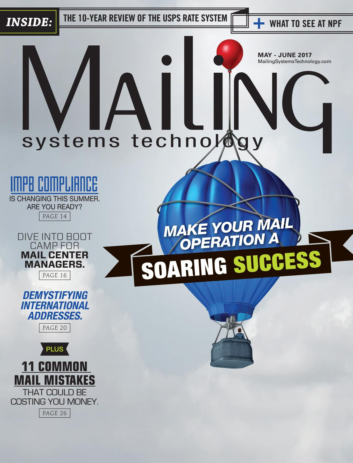 Mailing Systems Technology May/June 2017 by RB Publishing