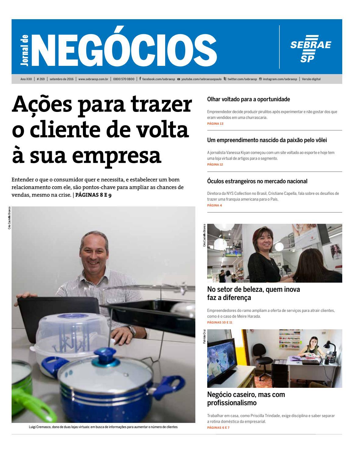 Jornal de Negócios Sebrae-SP - 01 de setembro de 2016 by Sebrae-SP - issuu c4156b2b3a