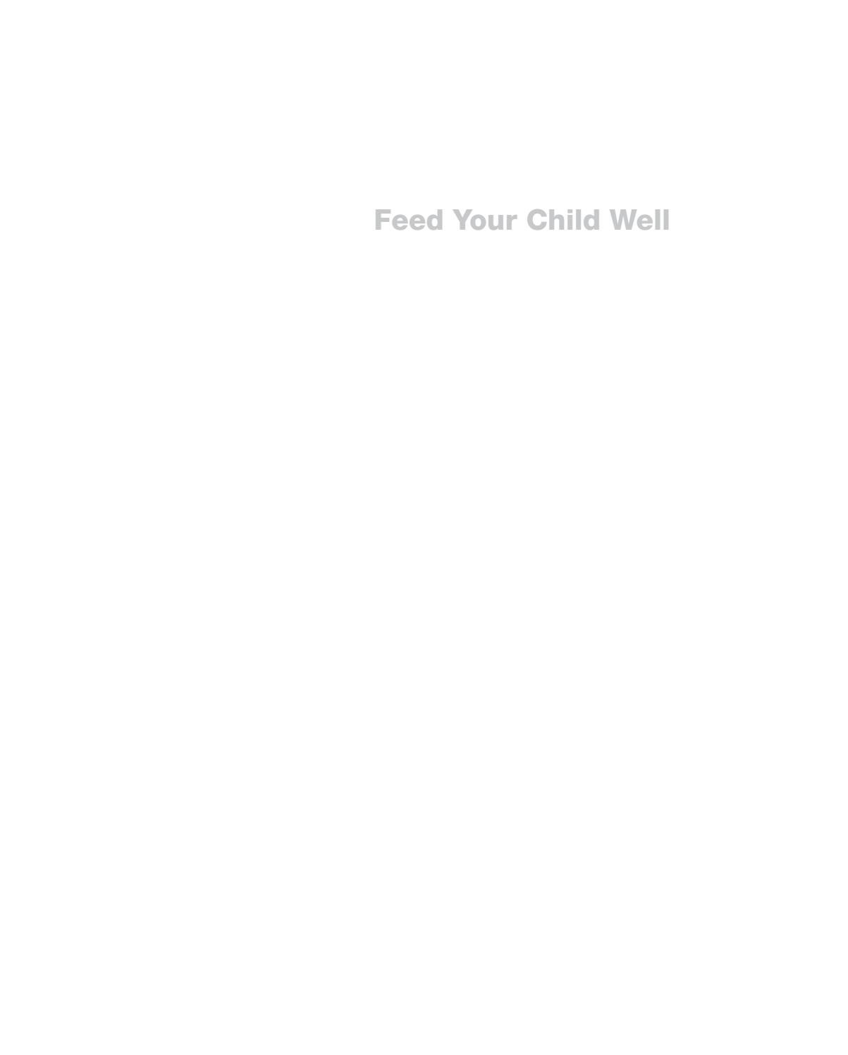 Feedyourchildwell by The O'Brien Press Ltd - issuu