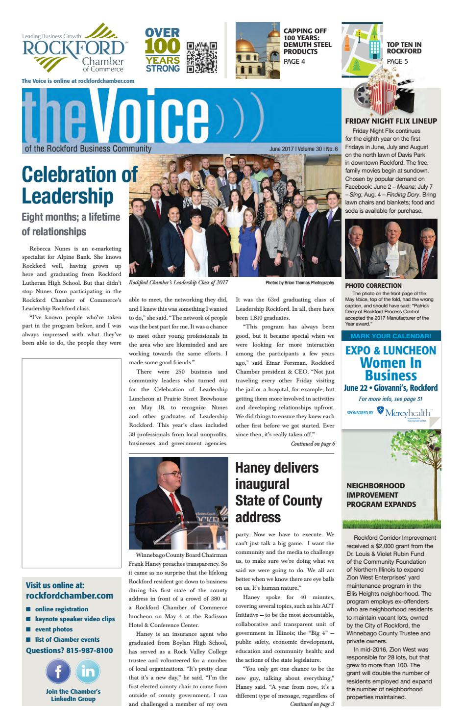 june voice 2017 by rockford chamber of commerce - issuu