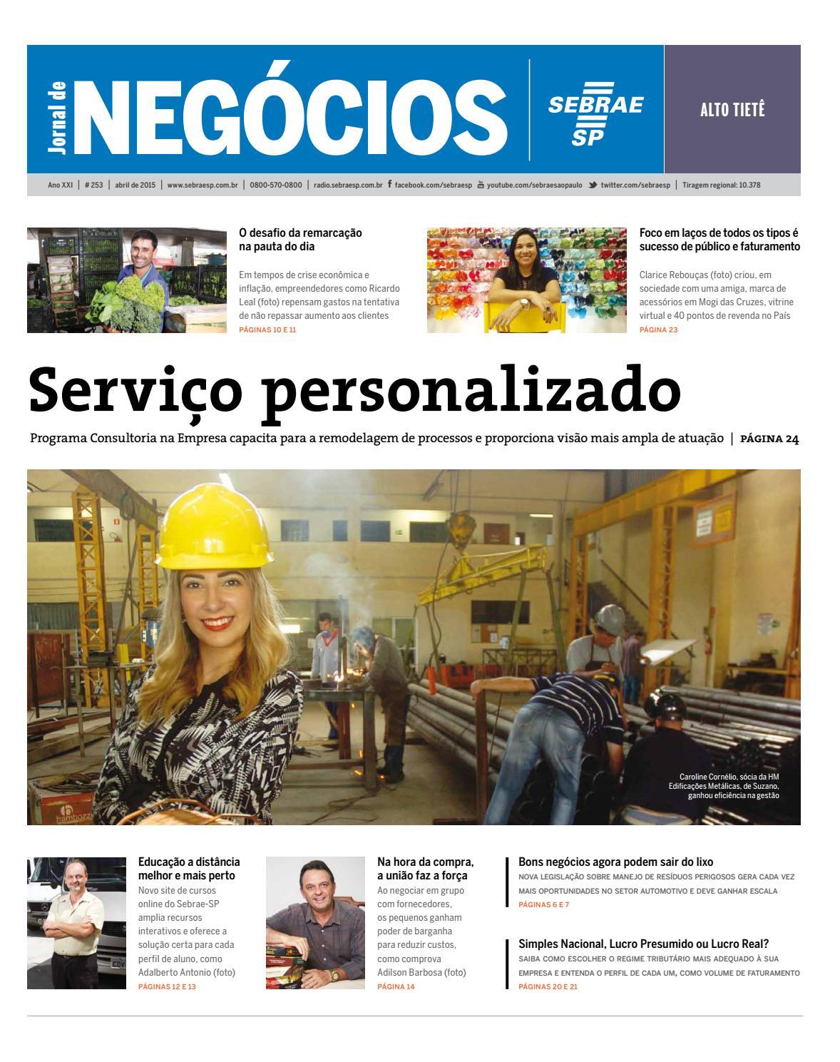 Jornal de Negócios Sebrae-SP - 01 de Abril de 2015 - Alto Tietê e região by  Sebrae-SP - issuu a4561c2f2d