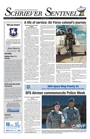Schriever Sentinel May 25 by Colorado Springs Military