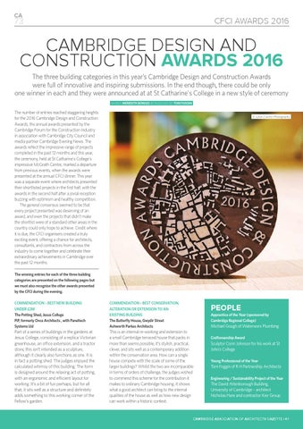 Page 41 of Cambridge Design and Construction Awards 2016