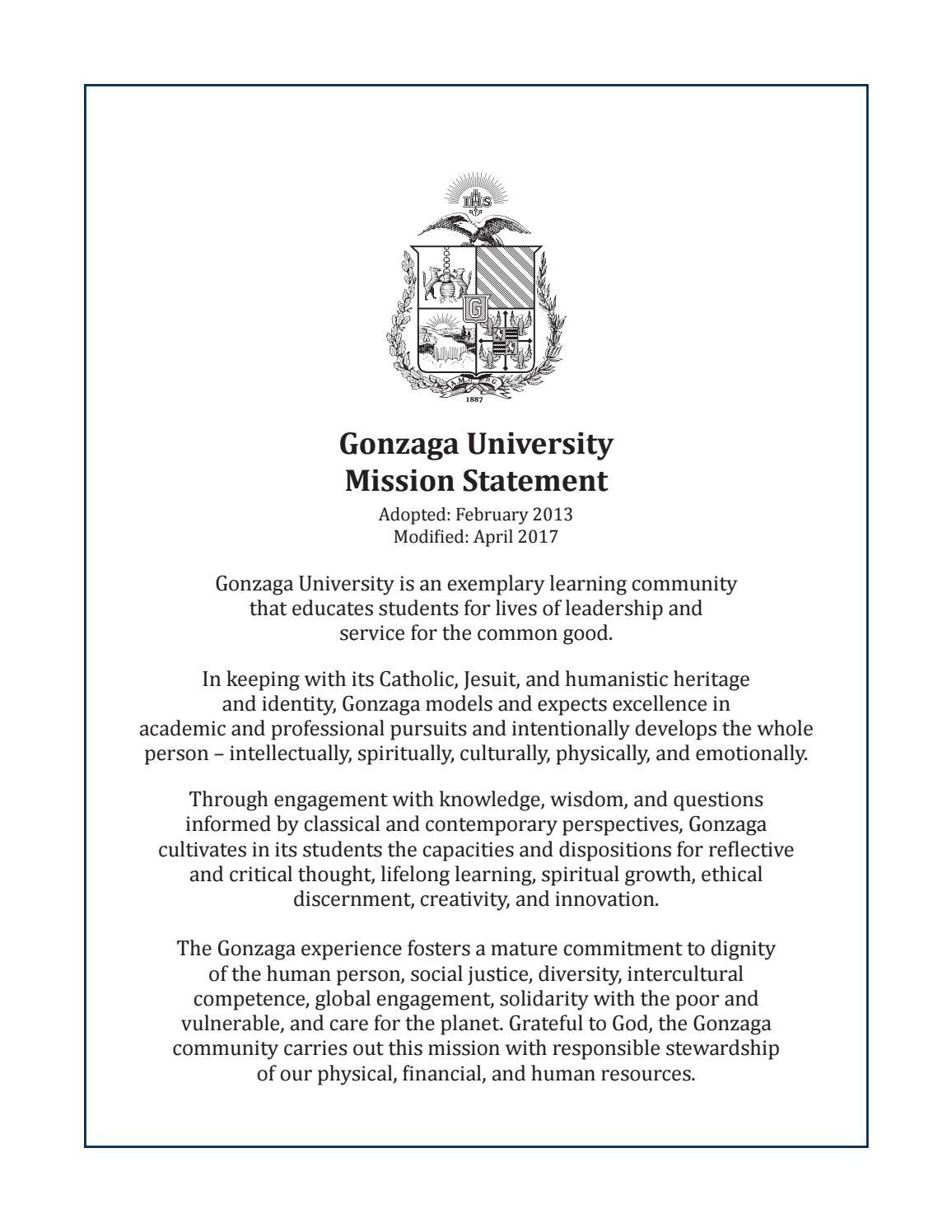Gonzaga Resume Cover Letter