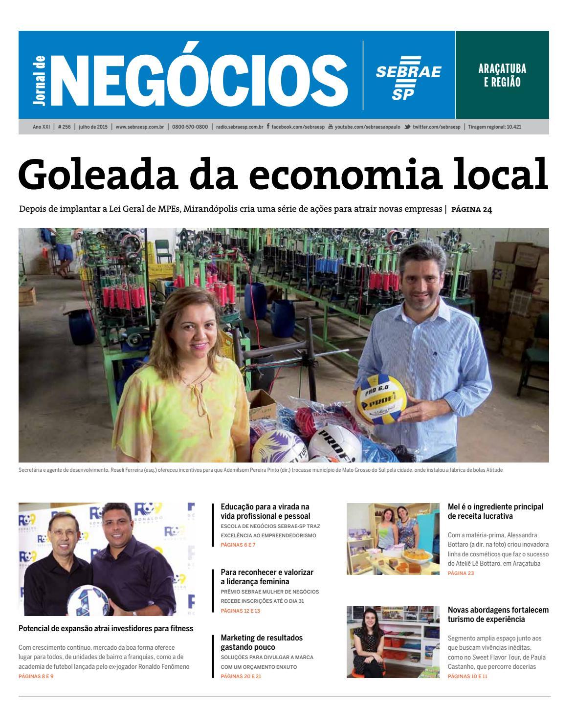 Jornal de Negócios Sebrae-SP - 01 Julho 2015 - Araçatuba e região by  Sebrae-SP - issuu bc6356a0b7ccb