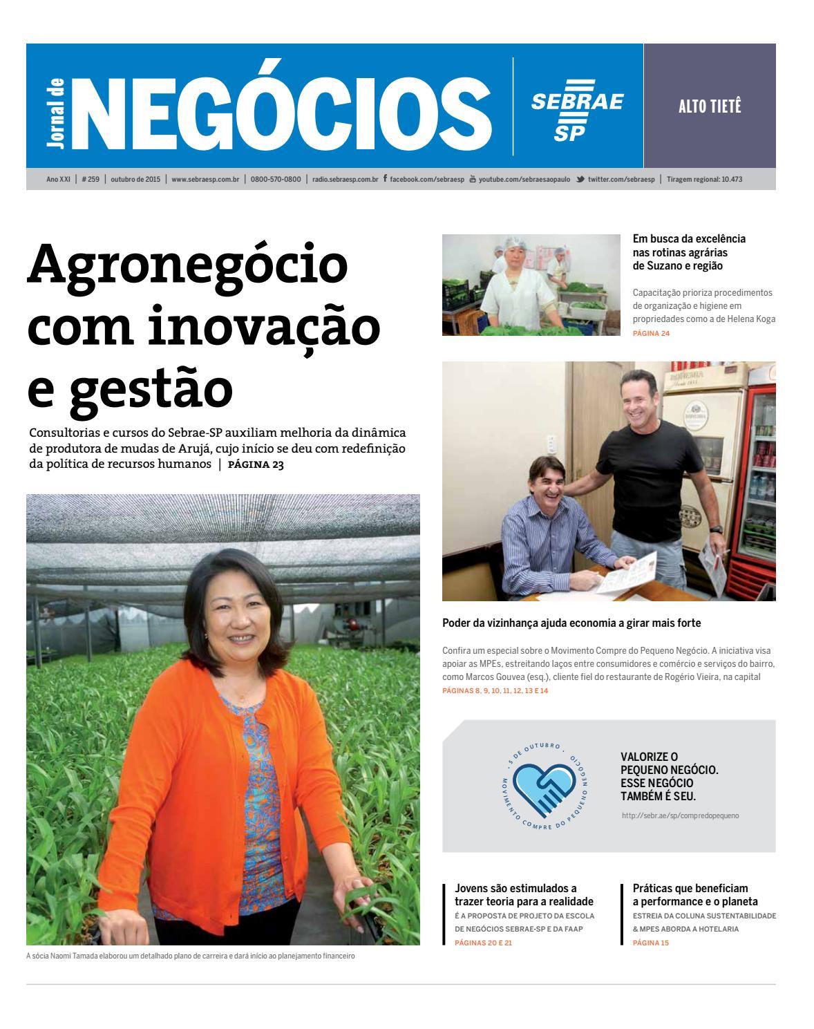 3f4e5f186 Jornal de Negócios Sebrae-SP - 01 de outubro de 2015 - Alto Tietê by  Sebrae-SP - issuu
