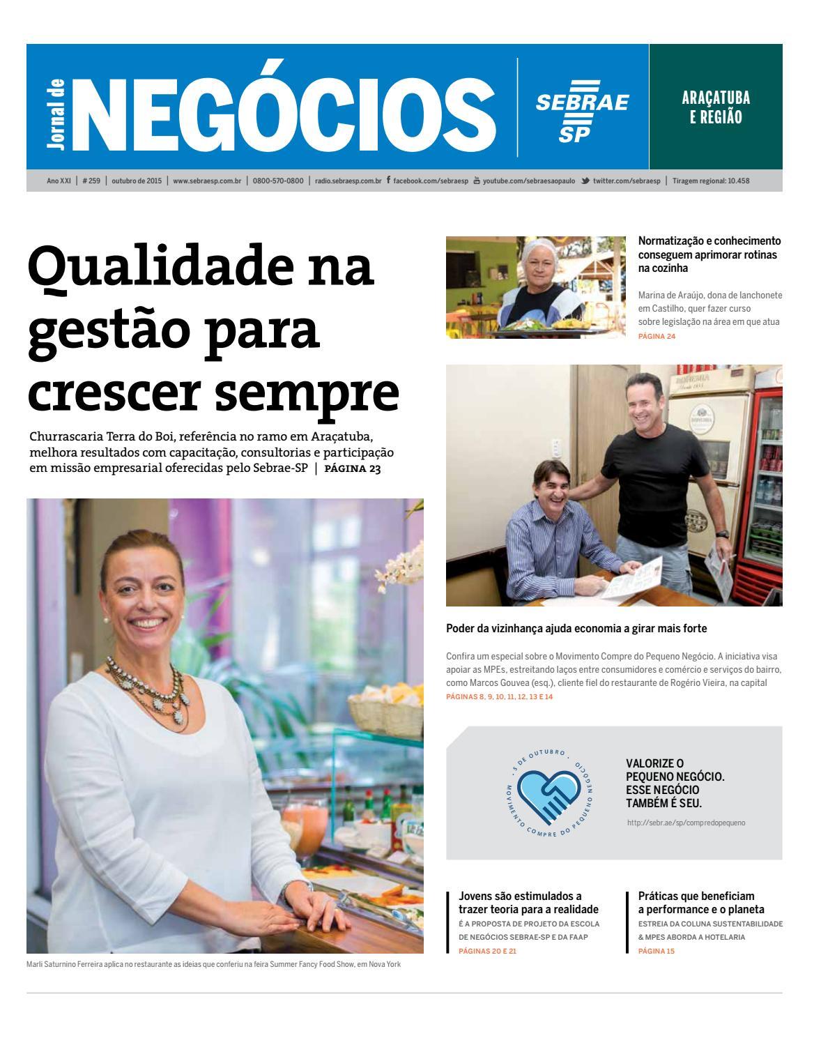 Jornal de Negócios Sebrae-SP - 01 de outubro de 2015 - Araçatuba by  Sebrae-SP - issuu ebb41a70d6cd