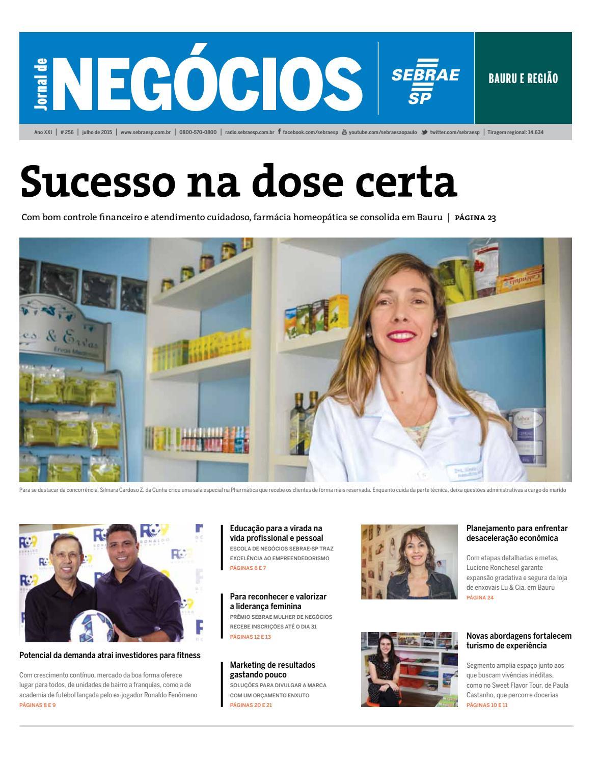 Jornal de Negócios Sebrae-SP - Julho de 2015 - Bauru e região by Sebrae-SP  - issuu beaa2a0b84ac6