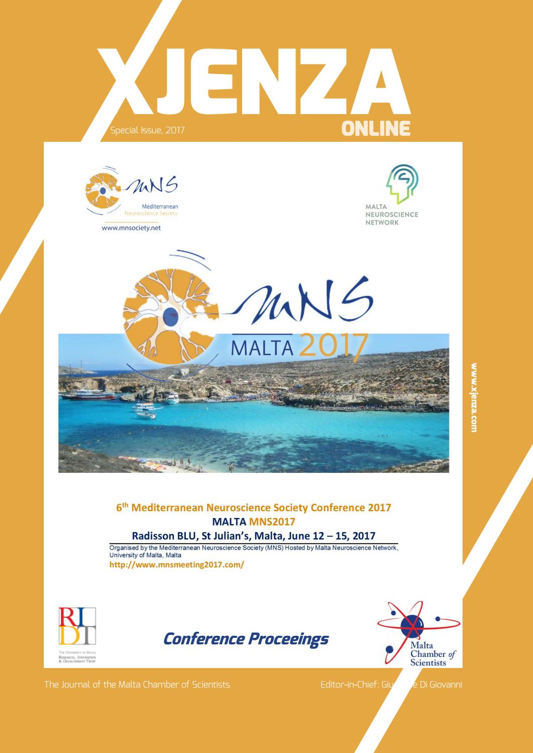Xjenza Online Series - MNS 2017 Special Issue - May 2017 by Malta ...