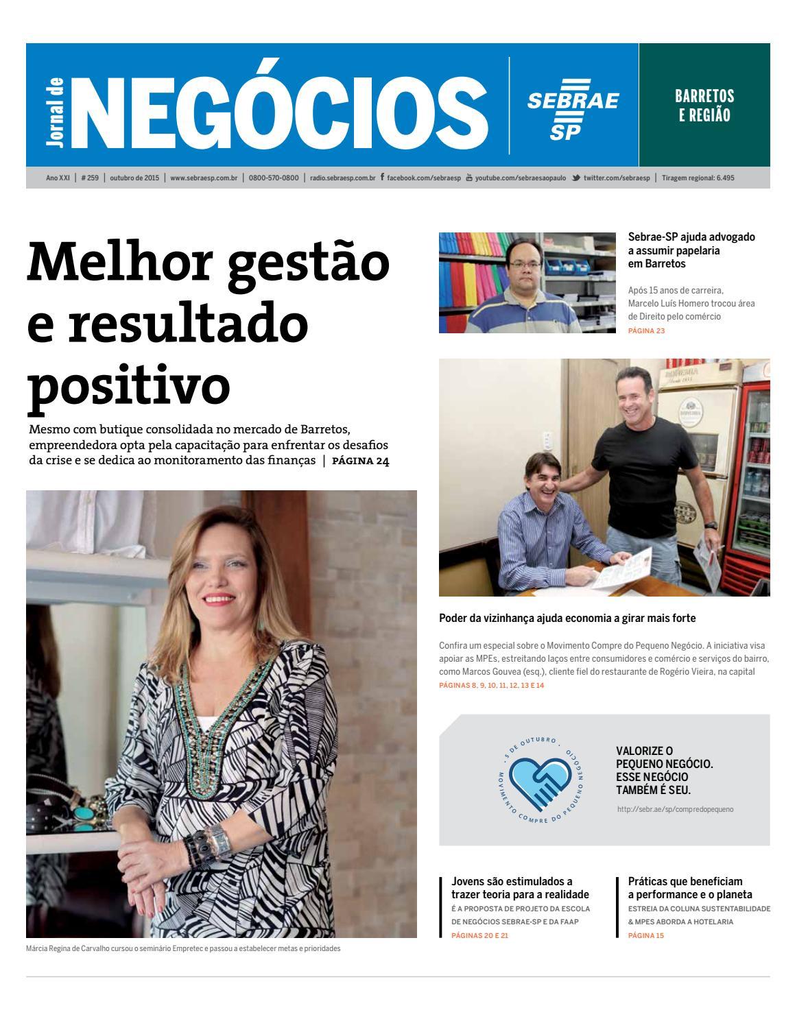 Jornal de Negócios Sebrae-SP - 01 de outubro de 2015 - Barretos by  Sebrae-SP - issuu b50f75b9381b