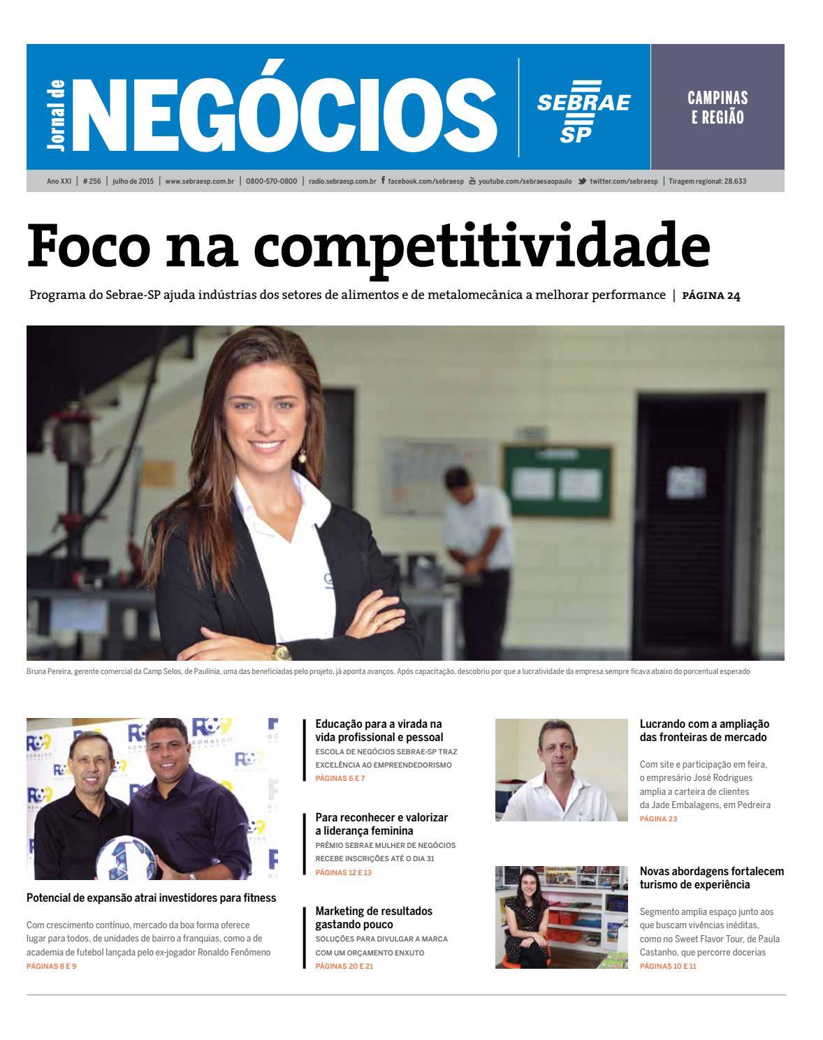 e6d2b3cfb Jornal de Negócios Sebrae-SP - Julho de 2015 - Campinas e região by  Sebrae-SP - issuu