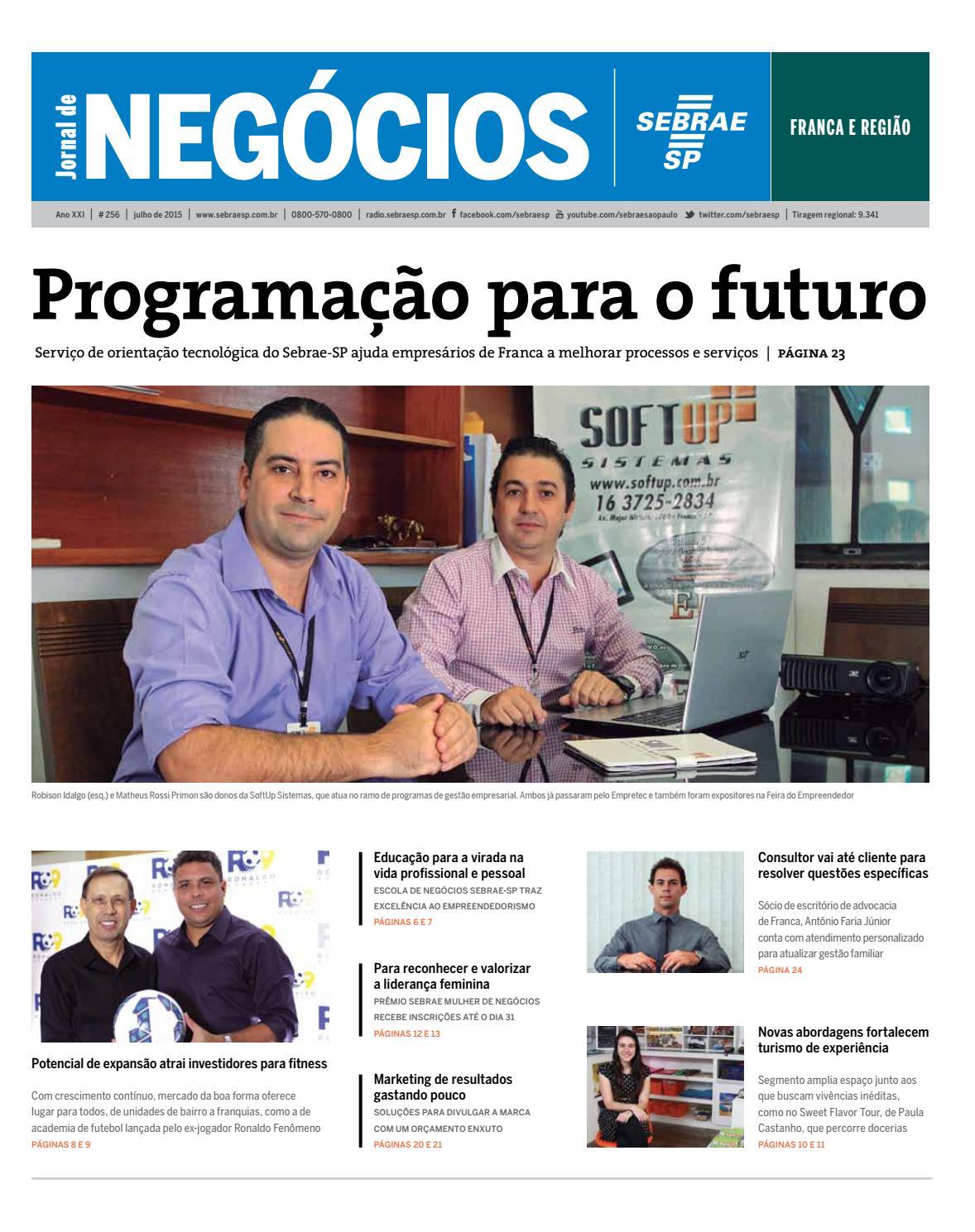 Jornal De Neg Cios Sebrae Sp Julho De 2015 Franca E Regi O By