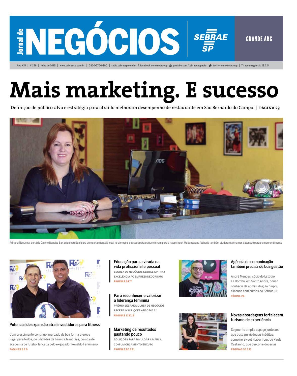 fcab5a5013c8d Jornal de Negócios Sebrae-SP - Julho de 2015 - Grande ABC e região by Sebrae-SP  - issuu