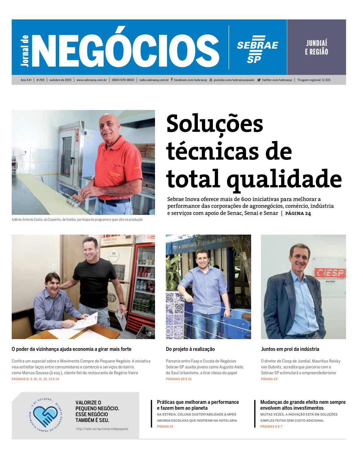 Jornal De Neg Cios Sebrae Sp 01 De Outubro De 2015 Jundia By
