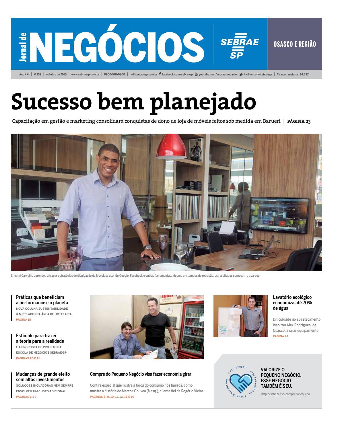 Jornal De Neg Cios Sebrae Sp 01 De Outubro De 2015 Osasco By