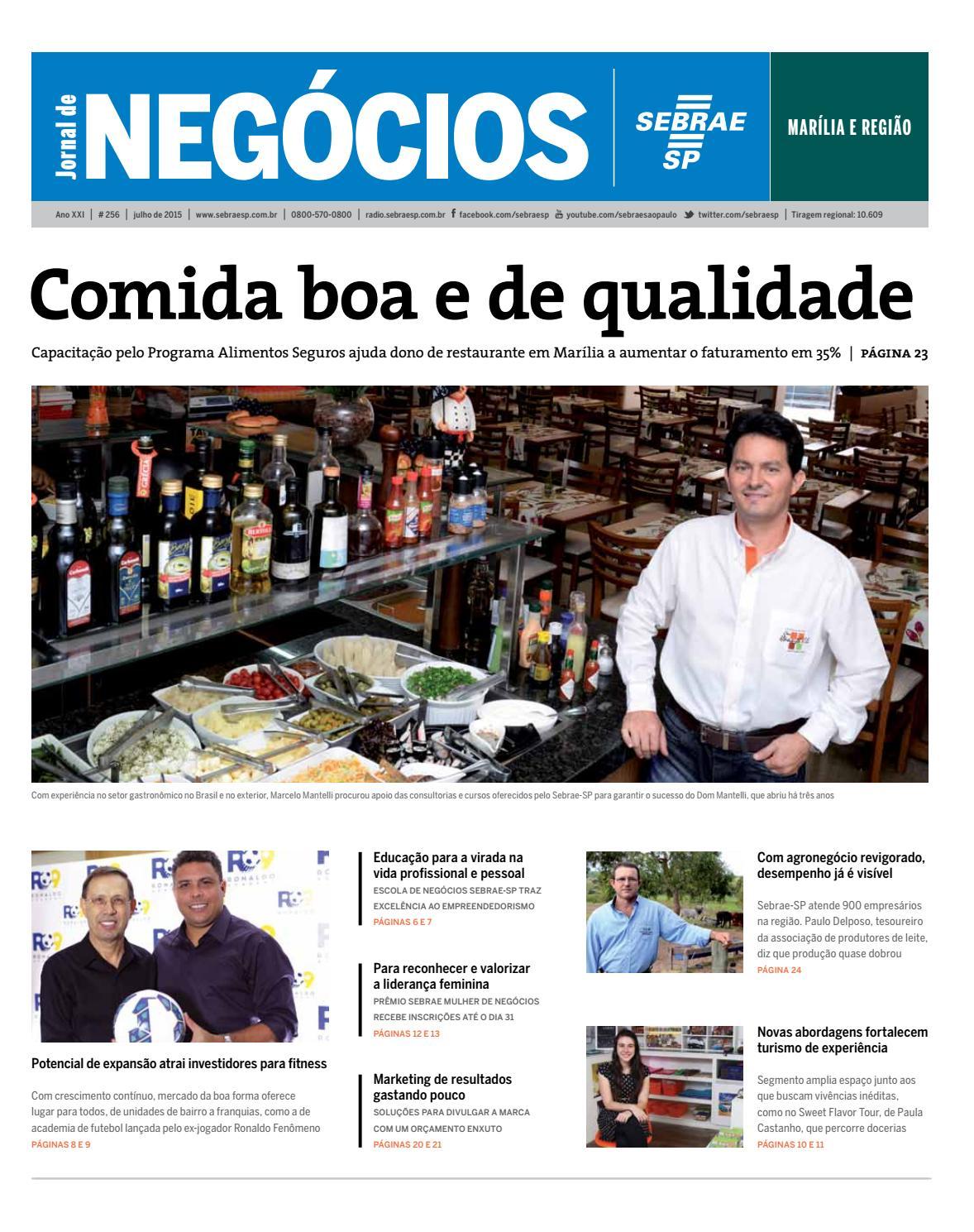 Jornal De Neg Cios Sebrae Sp Julho De 2015 Mar Lia E Regi O By