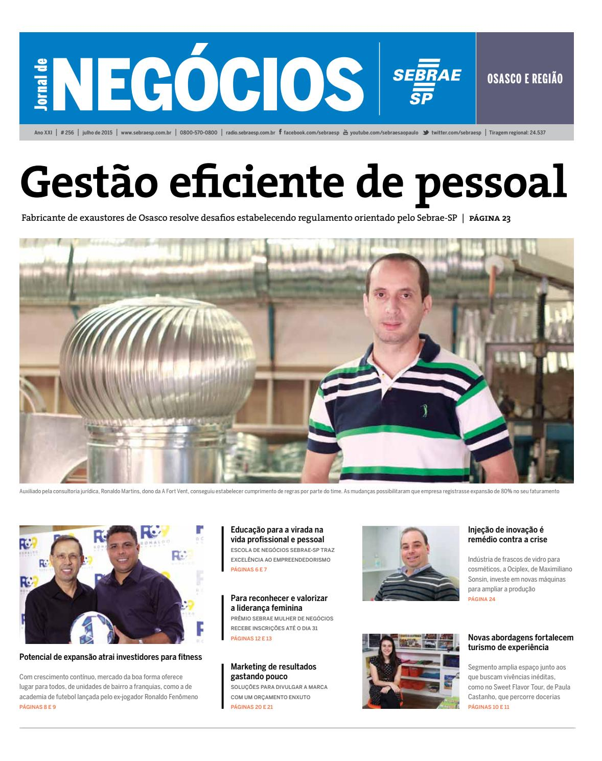 Jornal De Neg Cios Sebrae Sp Julho De 2015 Osasco E Regi O By