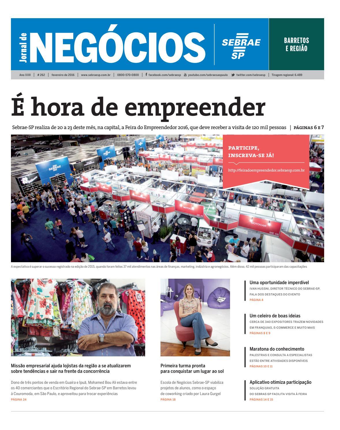 Jornal de Negócios Sebrae-SP - 01 de fevereiro de 2016 - Barretos by  Sebrae-SP - issuu 49447ade48