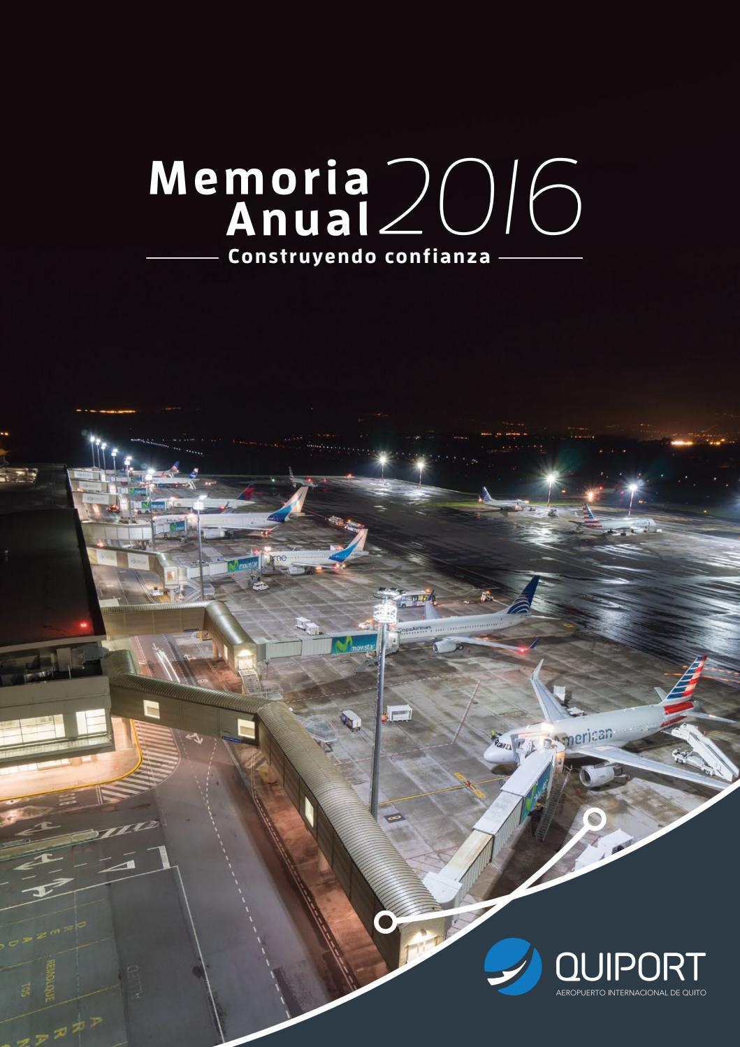 Memoria anual 2016 Quiport by Corporación Quiport S.A. - issuu