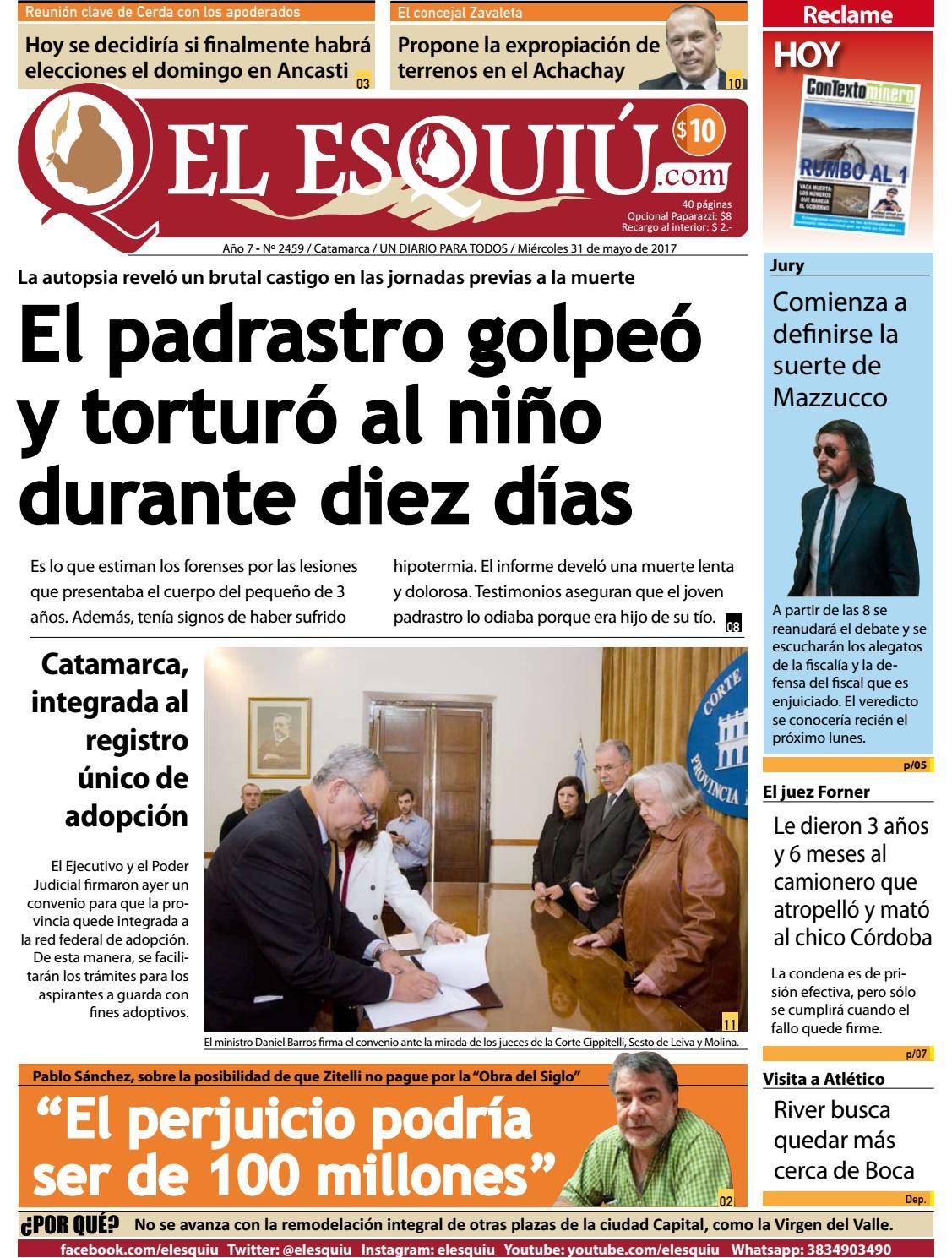 El Esquiu.com, miércoles 31 de mayo de 2017 by Editorial El Esquiú ...