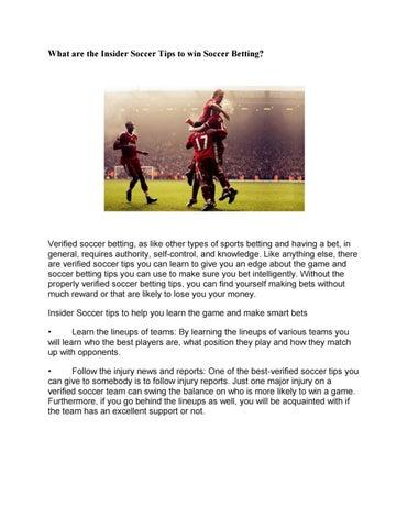 soccer betting insider tips
