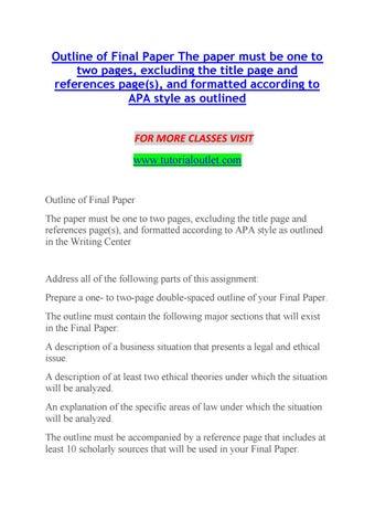 apa final paper