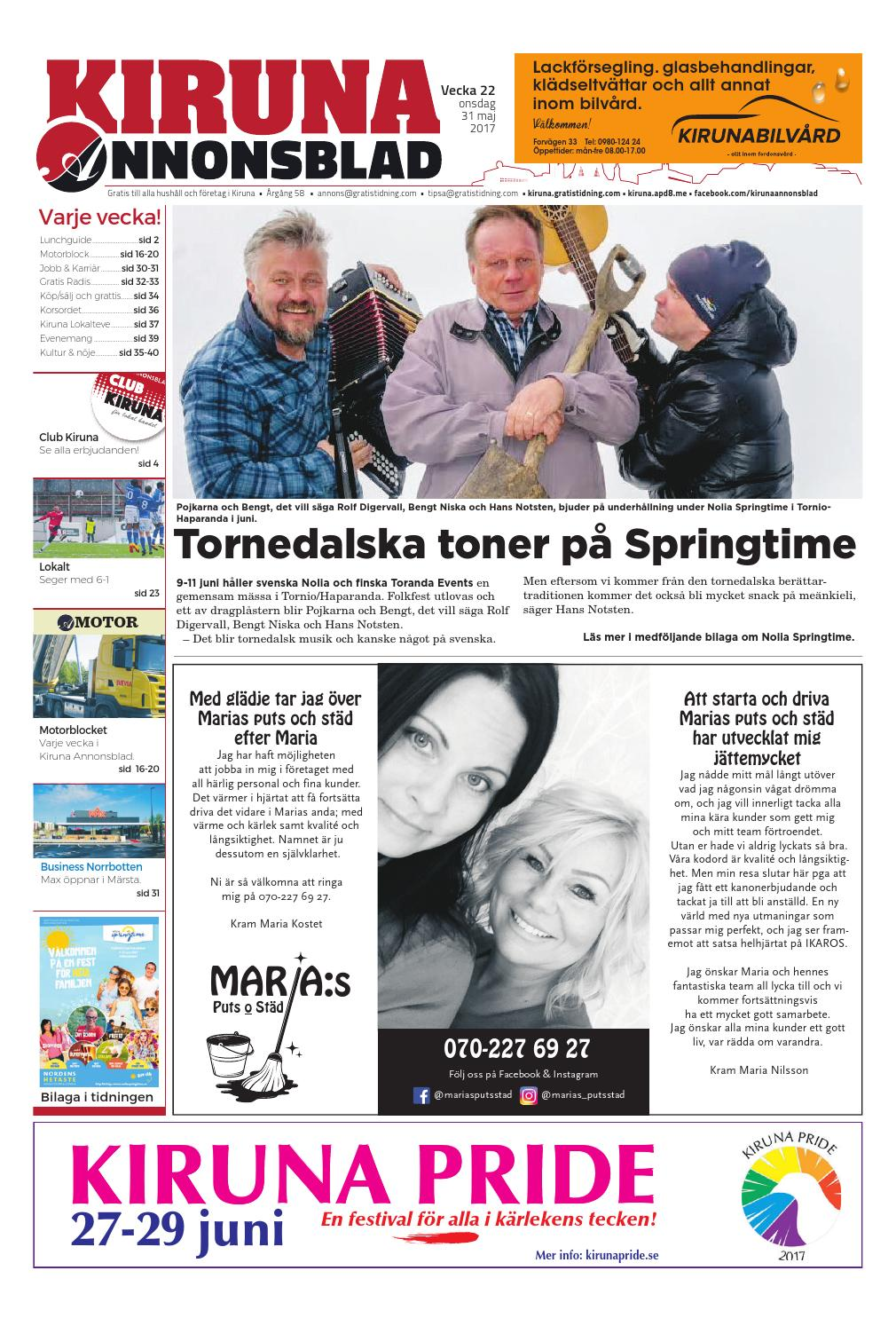 newest 061db fac8b Kiruna Annonsblad med Nolia Sprigtime bilaga by Svenska Civildatalogerna AB  - issuu