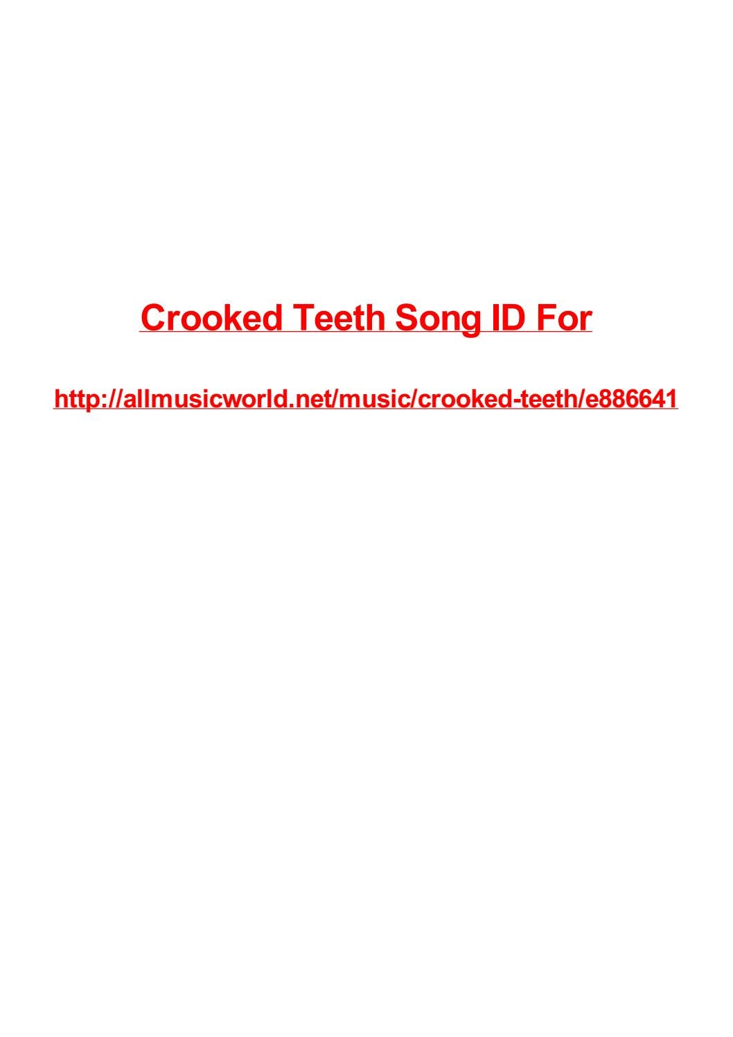 Crooked Teeth Song Id For By Max Polansky Issuu