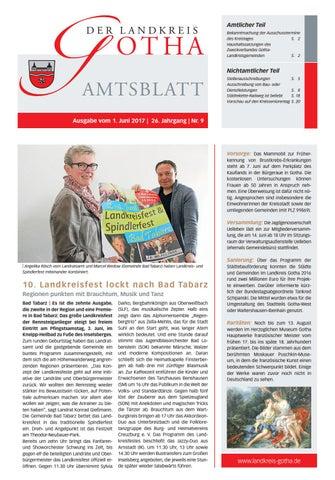 Amtsblatt des Landkreises Gotha Nr 9 2017 vom 1 Juni 2017 by
